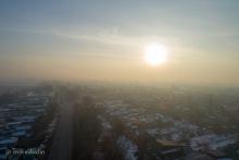Эффект инверсии и смог в Бишкеке