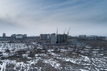 Строящийся объект на юге Бишкека