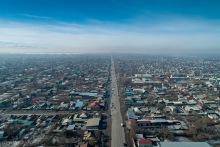 Вид на западный Бишкек, 05.02.2020