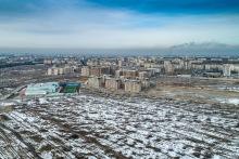 """Вид на южный Бишкек, район """"Европейский"""""""