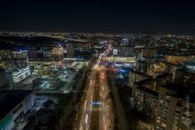Улица Токомбаева, вид на запад, вечер