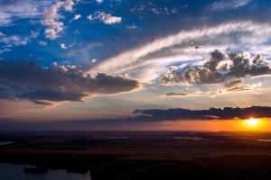 Закат над Чуйской долиной